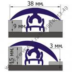 Профиль угловой для плитки наружный PROJOLLY (Раскладка для плитки)